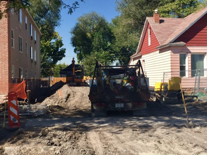 Site preparation is underway for the Greenprint Apartments. Photo by Isaac Riddle.
