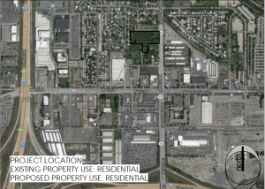 Location map of the West Station Apartments. Image courtesy Salt Lake City planning documents.