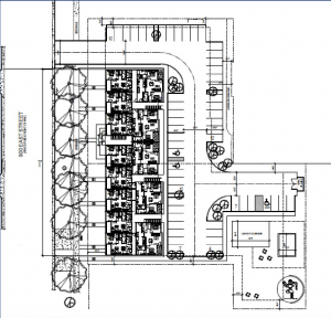 Site plans for the 35 S. 900 East Development. Image courtesy Salt Lake City planning documents.