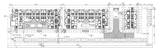 The site plan for the North Temple Flats. Image courtesy Salt Lake City planning documents.