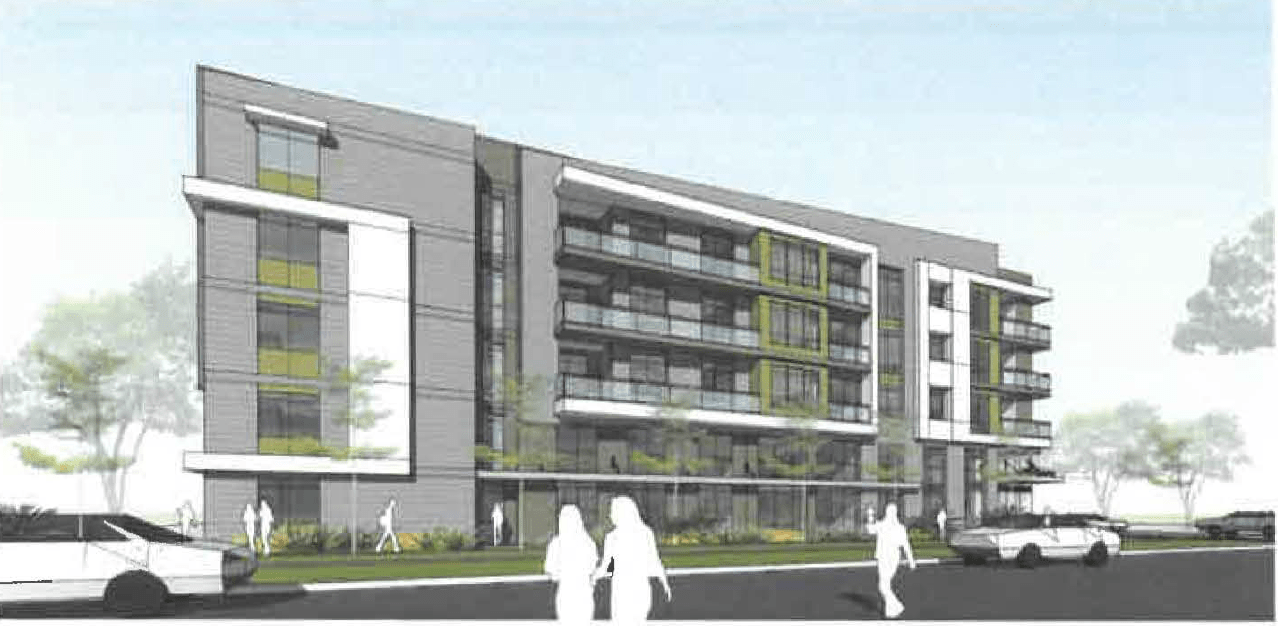 Preliminary Rendering Of The South Face Of The Garden Lofts As Designed By  BSB Design. Image Courtesy Salt Lake City Public Documents.