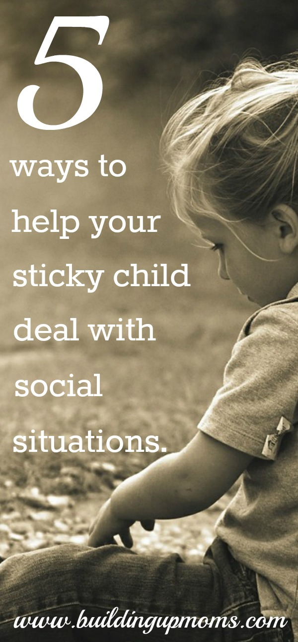 Socialisation and the sticky child. Do you have a sticky child? I did! I share 5 tips to encourage your child to step out of his comfort zone without stress.