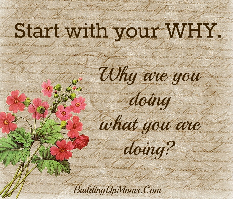 Before you decide to proceed with something or to stop doing something, start with your why. Why are you doing or not doing what you are doing?