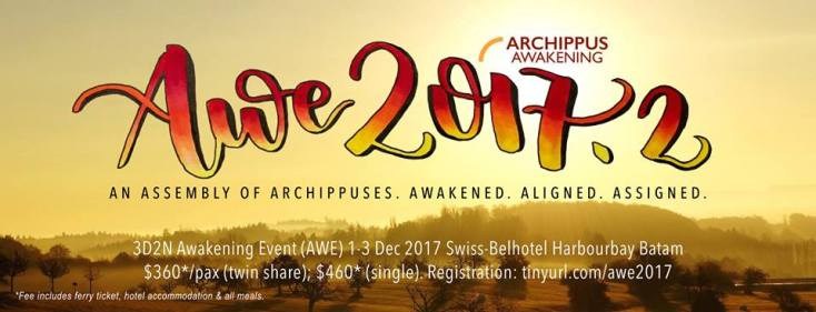 Are you living a purposeful life, join us at AWE 2017.2.