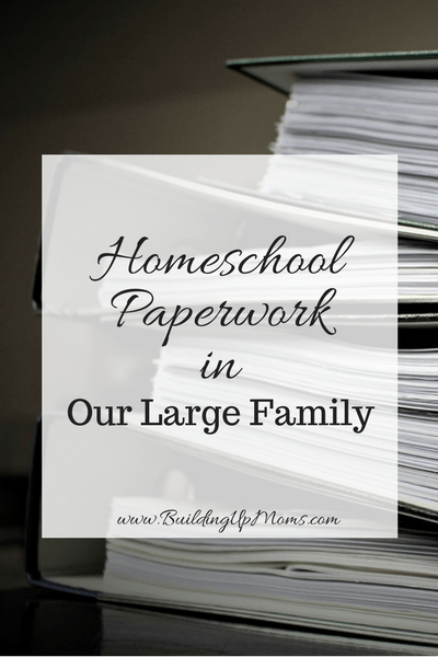 Struggling to keep on top of all the homeschool paperwork in our large family.