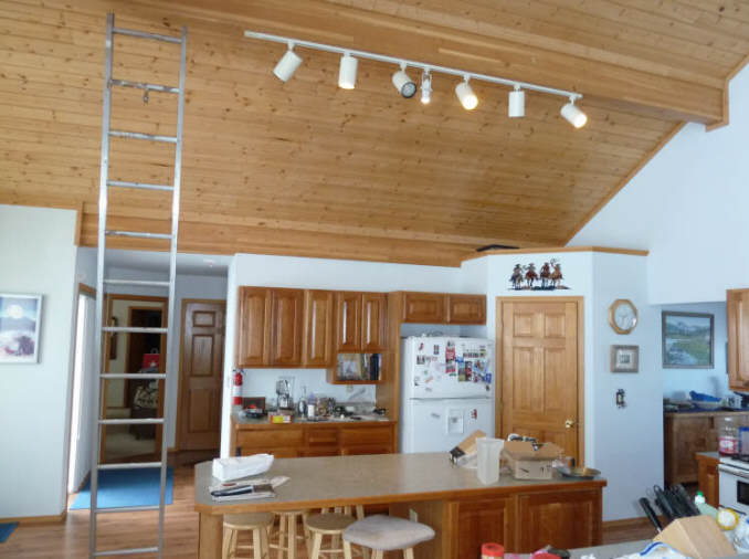 Kitchens With Track Lighting. the original 6 cfl r30 lights along ...