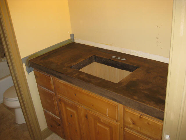 Acid Staining Concrete Countertops