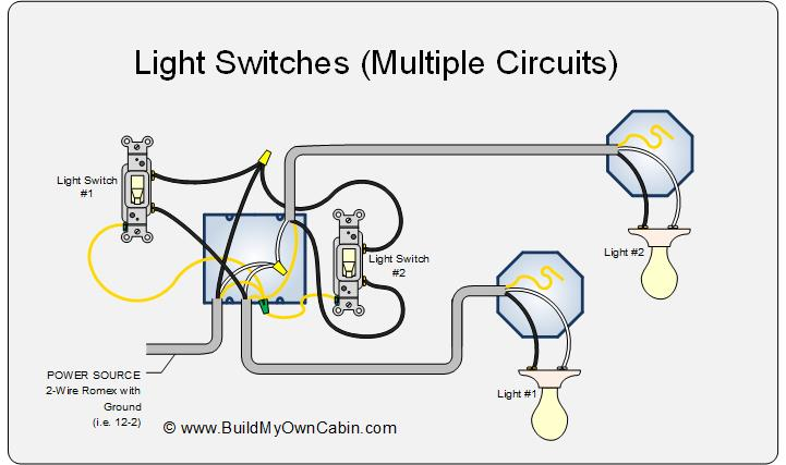 wiring multiple switch multiple light diagram?resize=640%2C379 basic wiring lights hobbiesxstyle basic wiring for lights at crackthecode.co