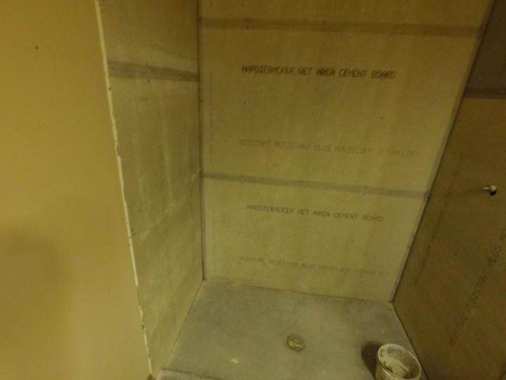 how to install shower backerboard