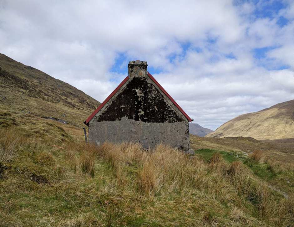 Glen Licht Bothy. A bothy is a mountain hut that is usually left unlocked and can be used as a basic shelter for trekkers or hunters. They are found in the more remote areas of the Scottish Highlands and can be a savior to a hiker during inclement weather. There were several of these along my route and they were popular with some of the Challengers. On the downside, the snoring can be epic.A bothy is a mountain hut that is usually left unlocked and can be used as a basic shelter for trekkers or hunters. They are found in the more remote areas of the Scottish Highlands and can be a savior to a hiker during inclement weather. There were several of these along my route and they were popular with some of the Challengers. On the downside, the snoring can be epic.