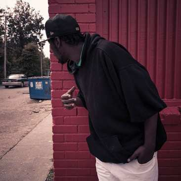 Young man at corner store, Clarksdale, MS