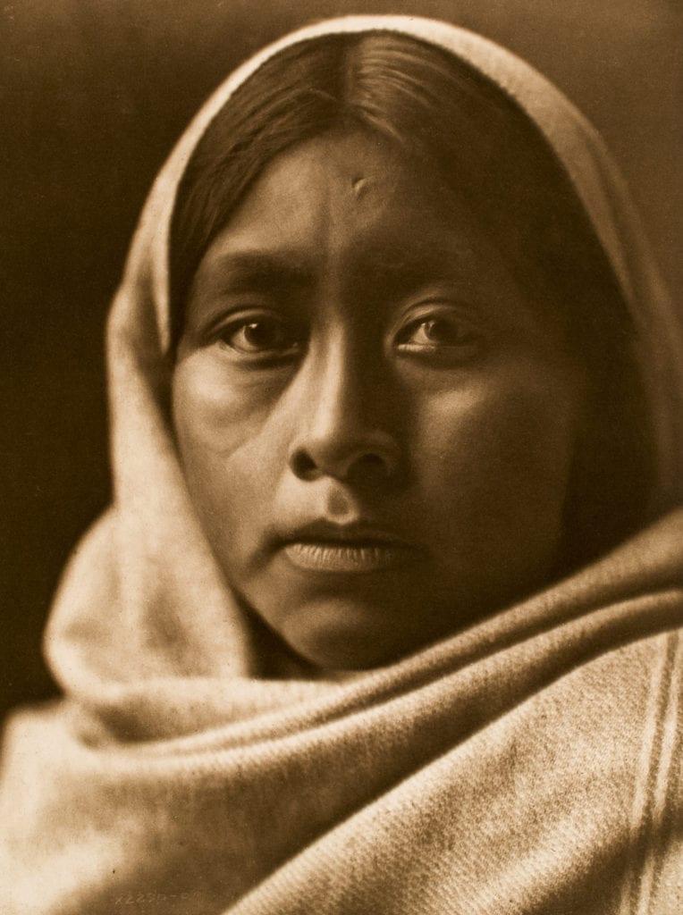 """Edward S. Curtis, Papago Girl, ca. 1907, photogravure, 15 x 12"""""""