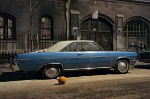 Subway Impala, Chevrolet Impala, 7th Avenue and 29th Street, 1975 ©Langdon Clay