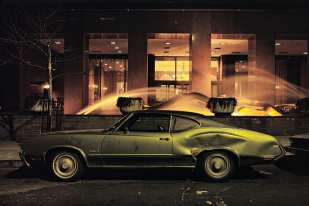 Fountain car, Oldsmobile Cutlass, 1975 ©Langdon Clay