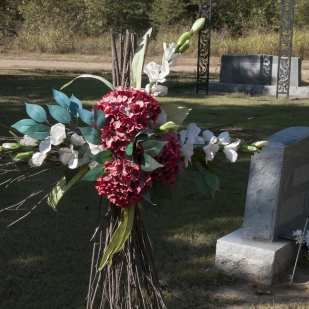 Marlow cemetery, west of Ruleville, Mississippi Delta, Duff Dorrough gravesite