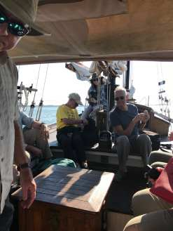 Wendell, Bubber, Lucie, and Carlos aboard the schooner ©NancyMcCrary