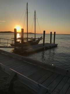 Last rays of sun after docking ©NancyMcCrary