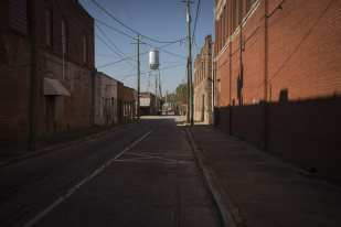 Street and Water Tower, Quiman, GA ©Forest McMullin