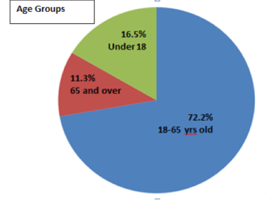 City of Racine age groups
