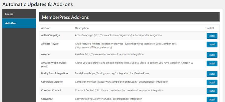 اضافات اضافة MemberPress