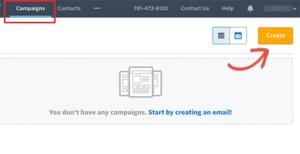 انشاء حملات البريد الاكتروني