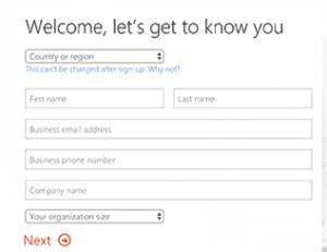 اضافة معلوماتك و البريد الاكتروني