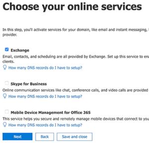 الخدمات التي تريدها من مايكروسفت