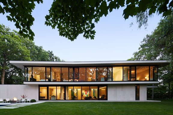 modern stone home design