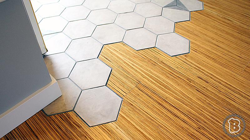 Hexagon Tile Floor Transition Buildxyz