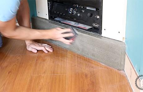 Miter Saw to Hexagon into Hardwood Floor