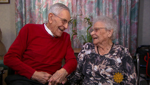 Dale and Alice Rockey Married 81 years here (Courtesy CBS News)
