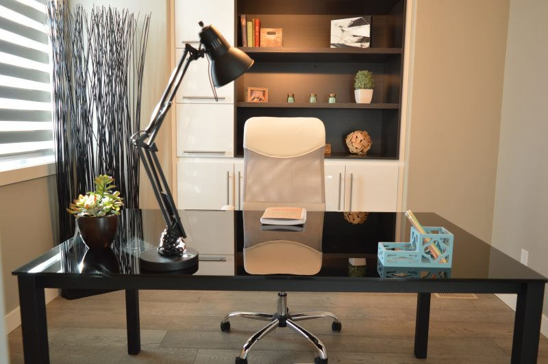 The bonus room in your custom home can be transformed in a home office.