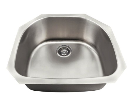 P2401US D-Bowl Stainless Steel Kitchen Sink