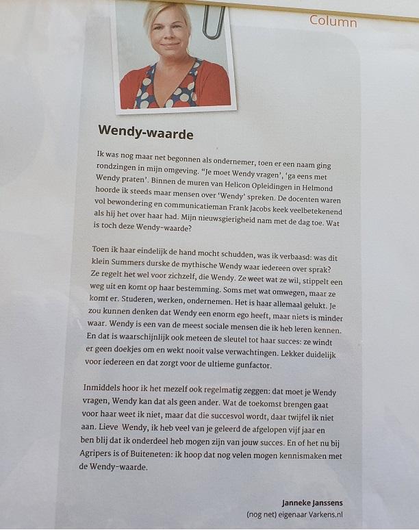 Column Wendy-waarde