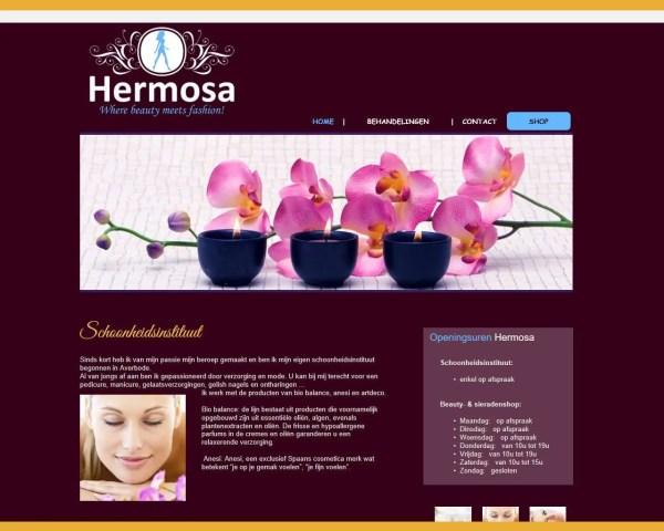 Schoonheidsinstituut Hermosa – website