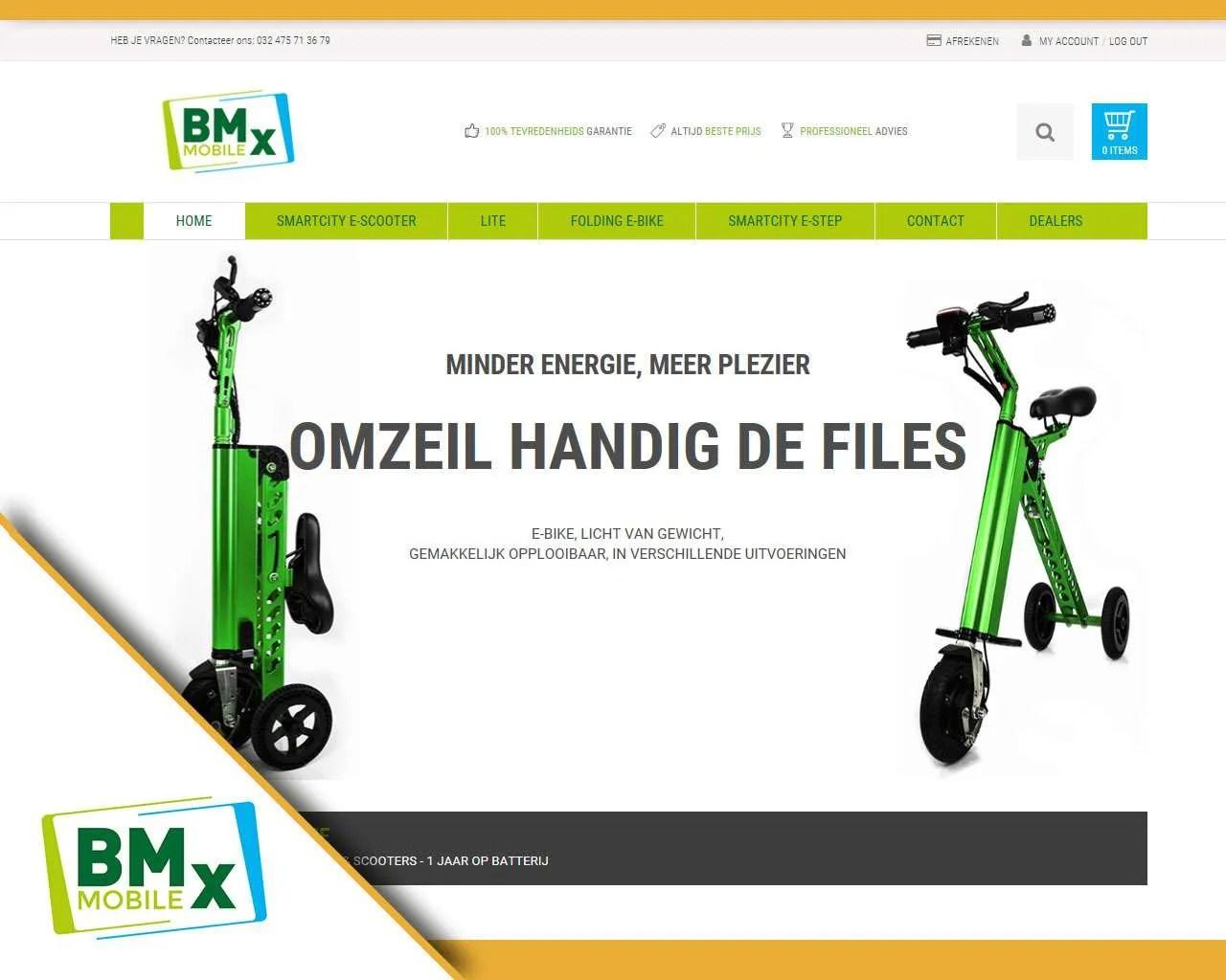 Website BMx Mobile door Buitengewoon Communicatie Averbode | Webdesign