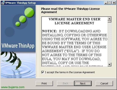 Instalación y configuración de VMware ThinApp