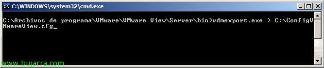 Exportando e importando la configuración de VMware View 4