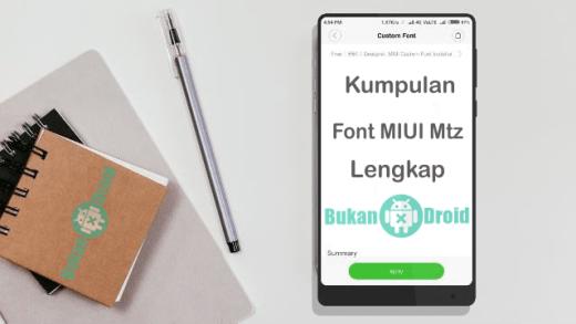 Kumpulan Font MIUI Xiaomi Support Unicode Mtz Keren, Lengkap dan Terbaru