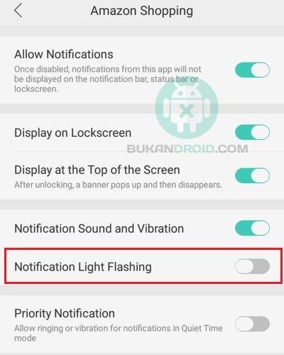 Cara Mengaktifkan LED Notifikasi Oppo A71