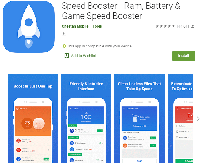 Speed Booster – RAM, Battery & Game Speed Booster