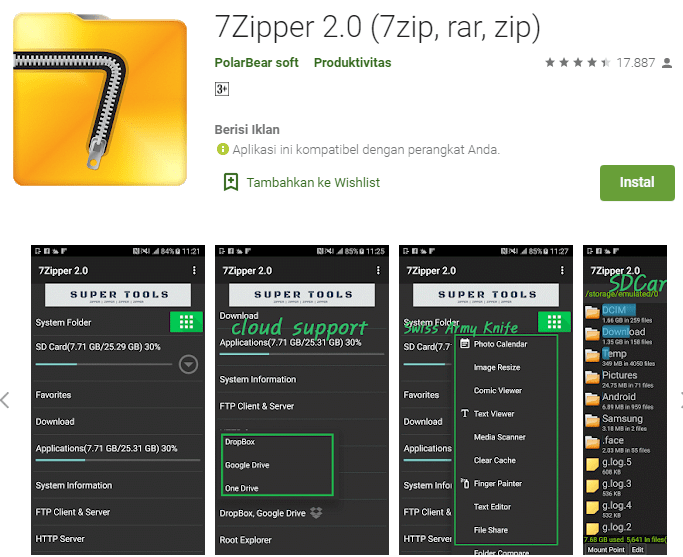 7Zipper 2.0 (7zip, rar, zip)