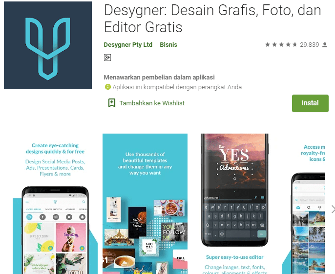 Desygner: Desain Grafis, Foto, dan Editor Gratis