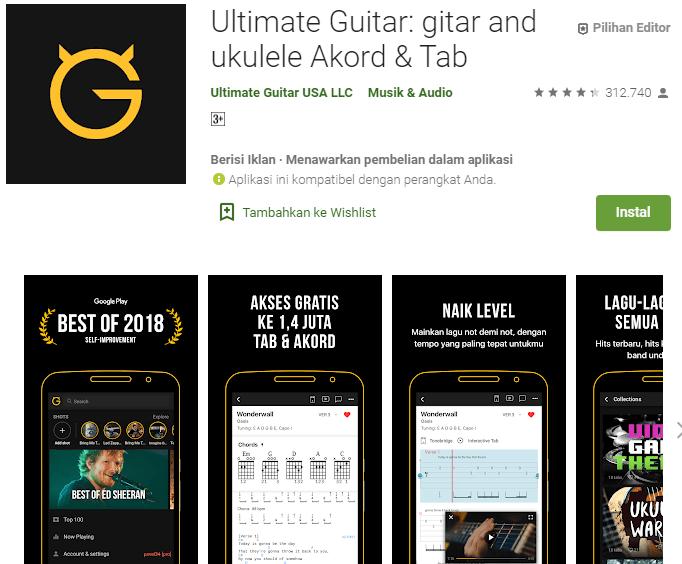 Ultimate Guitar: gitar and ukulele Akord & Tab