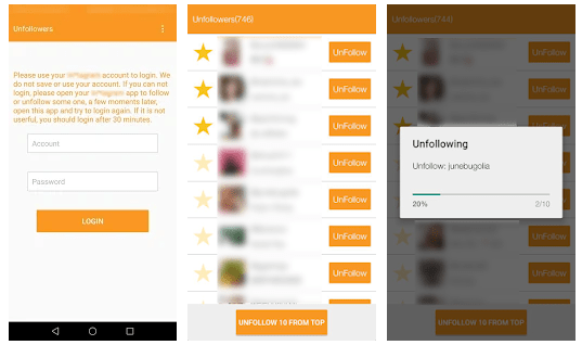 Unfollow User