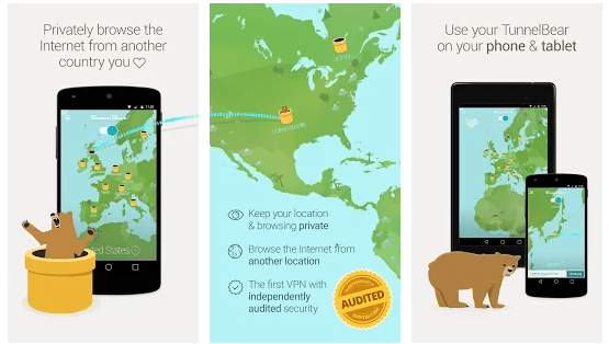 TunnelBear: Internet Security VPN and IP Blocker
