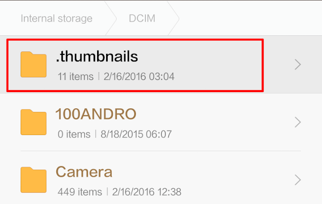 Cara Hapus Data Thumbnail HP Android