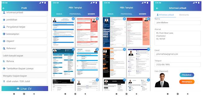 CV Maker Lamaran kerja PDF