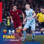 Roma 3-0 Barcelona (4-4 agg) -Roma Knock Barca Out of UCL – Full Highlight