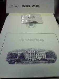WHite House folder